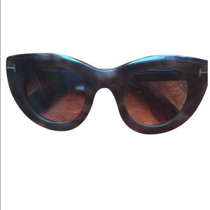 Tom Ford MARCELLA Blonde Havana/Brown Sunglasses